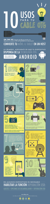 Infografía 10 usos para el cable OTG