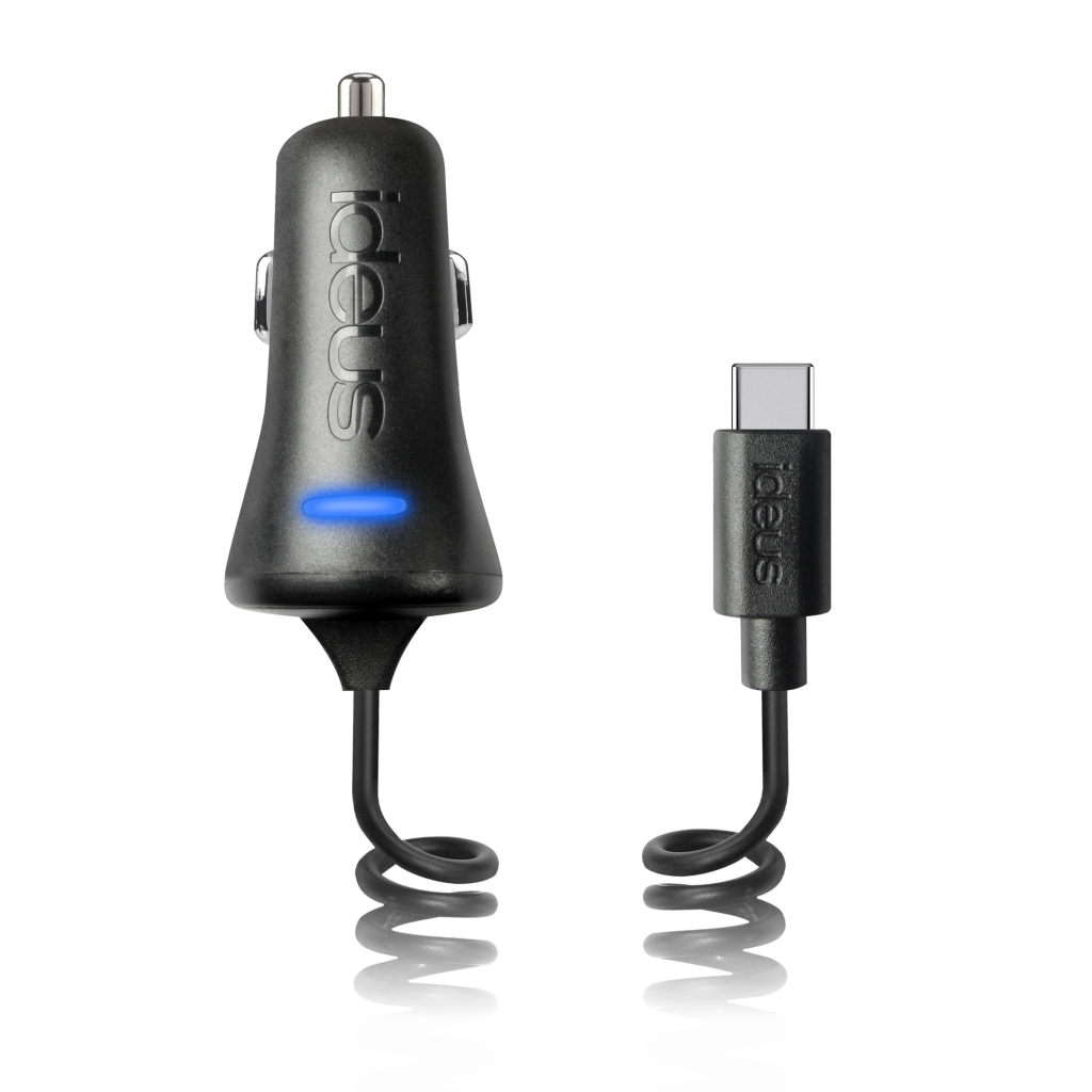 Car charger with USB slot and Micro USB reversible connector
