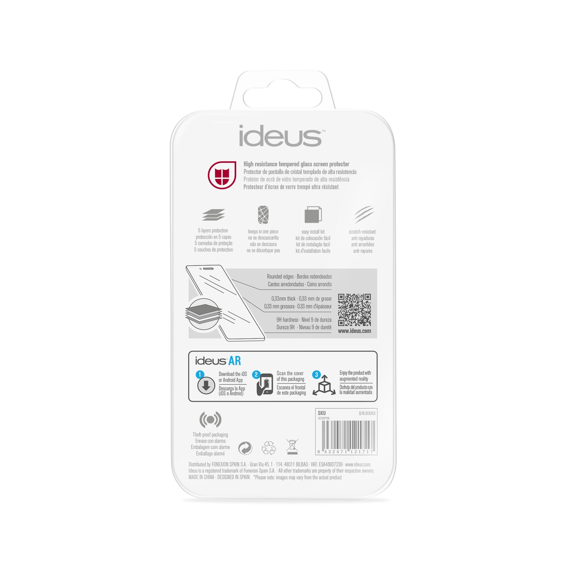 Tempered Glass Screen Protector for Huawei P8 Lite - Clear [Anti Gores .